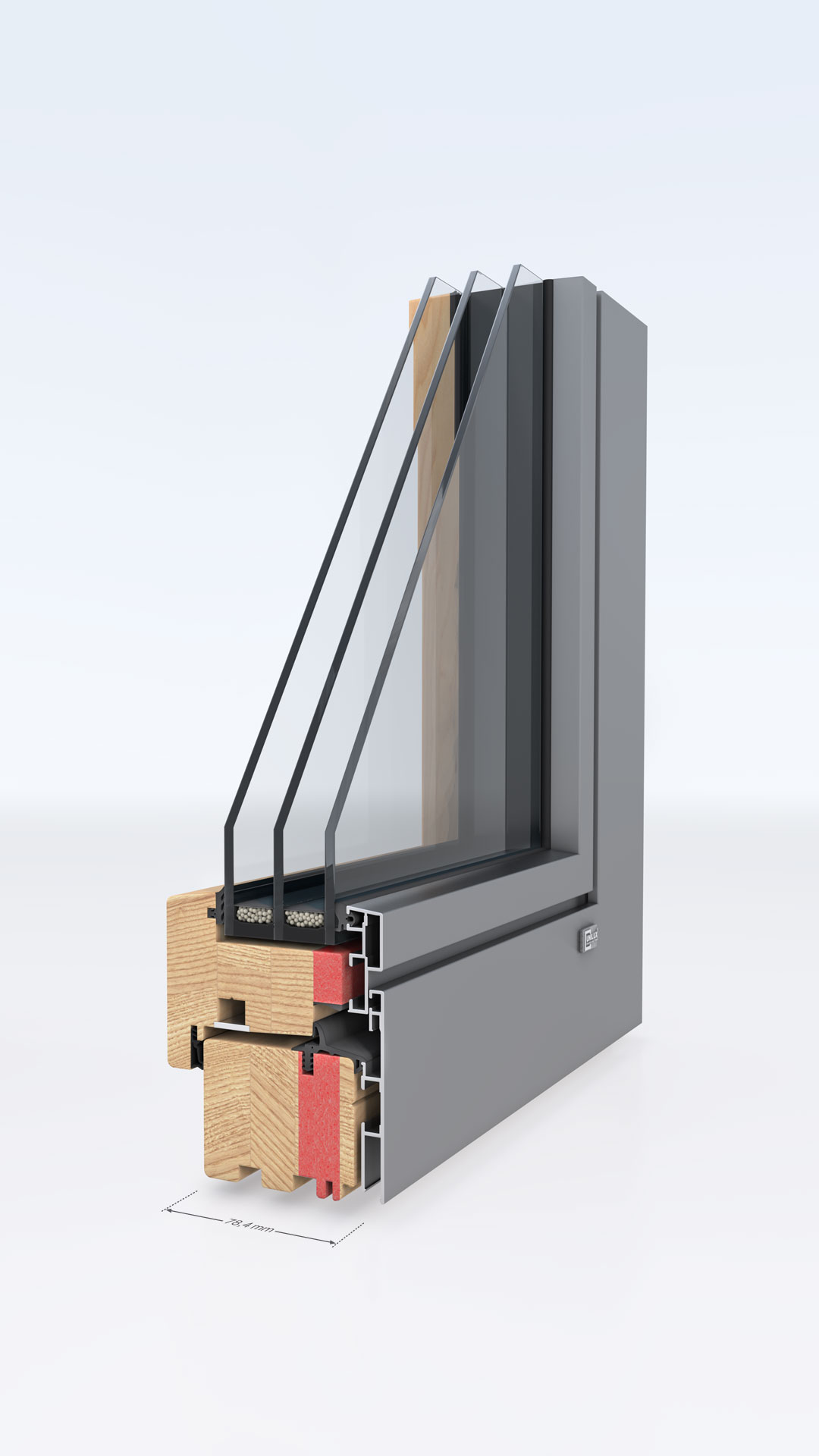 Unilux designline 0 7 deutsch for Alu holz fenster