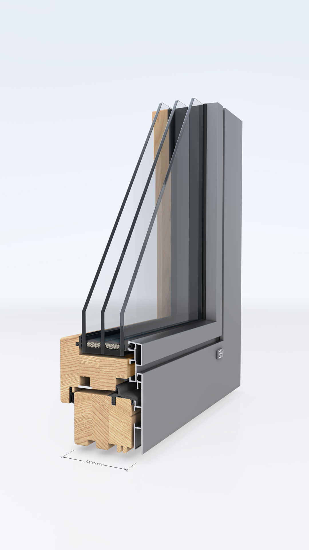 Unilux benefits wood alum englisch for Fenster aluminium